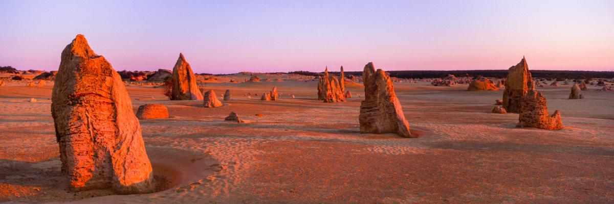 The pinnacles in western Australia