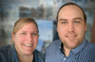 Liz and JD Byrnes of Get Outta Here Travel Agency